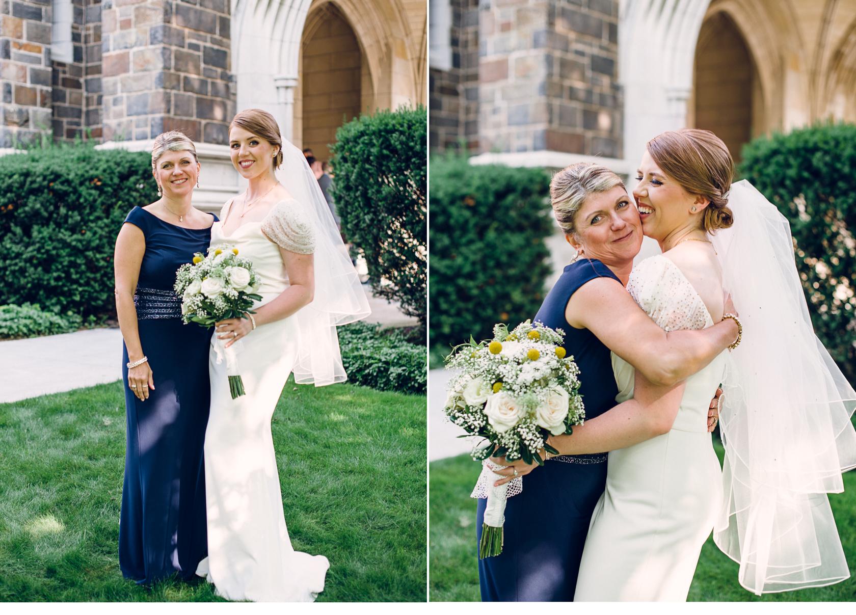 Mom Hugging Bride