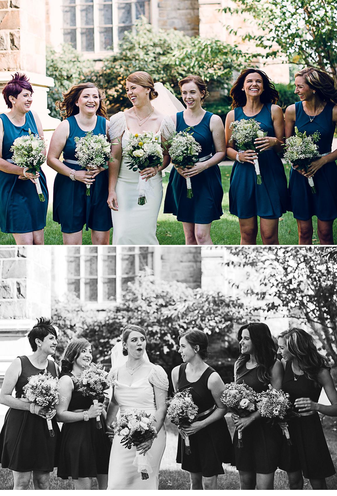 Laughing Bridesmaids