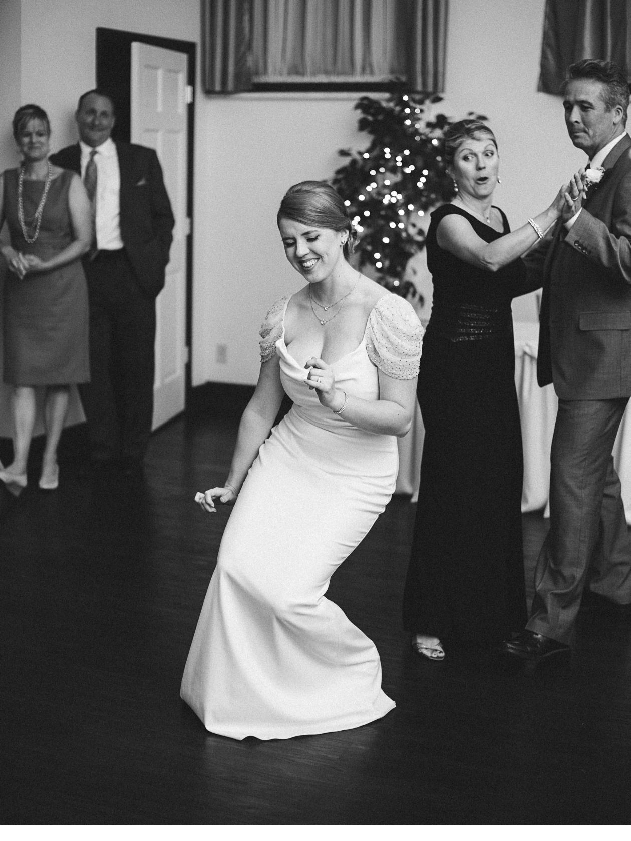 Bride Getting Down