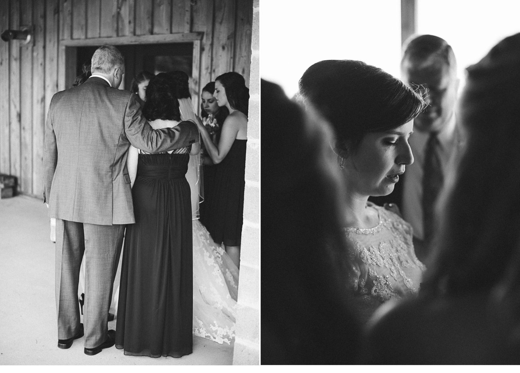 Bridal Party Praying