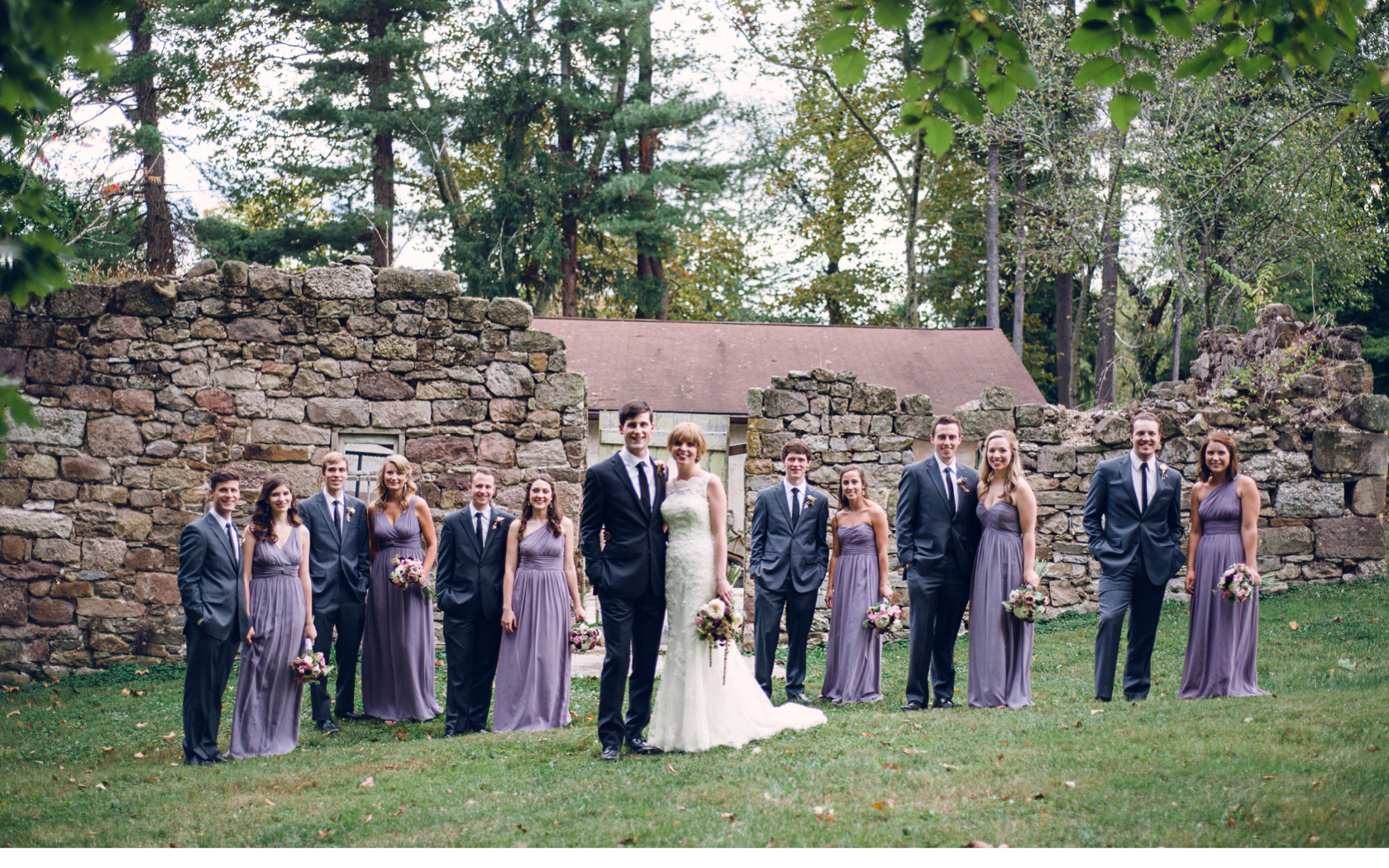 Bridal Party Outside