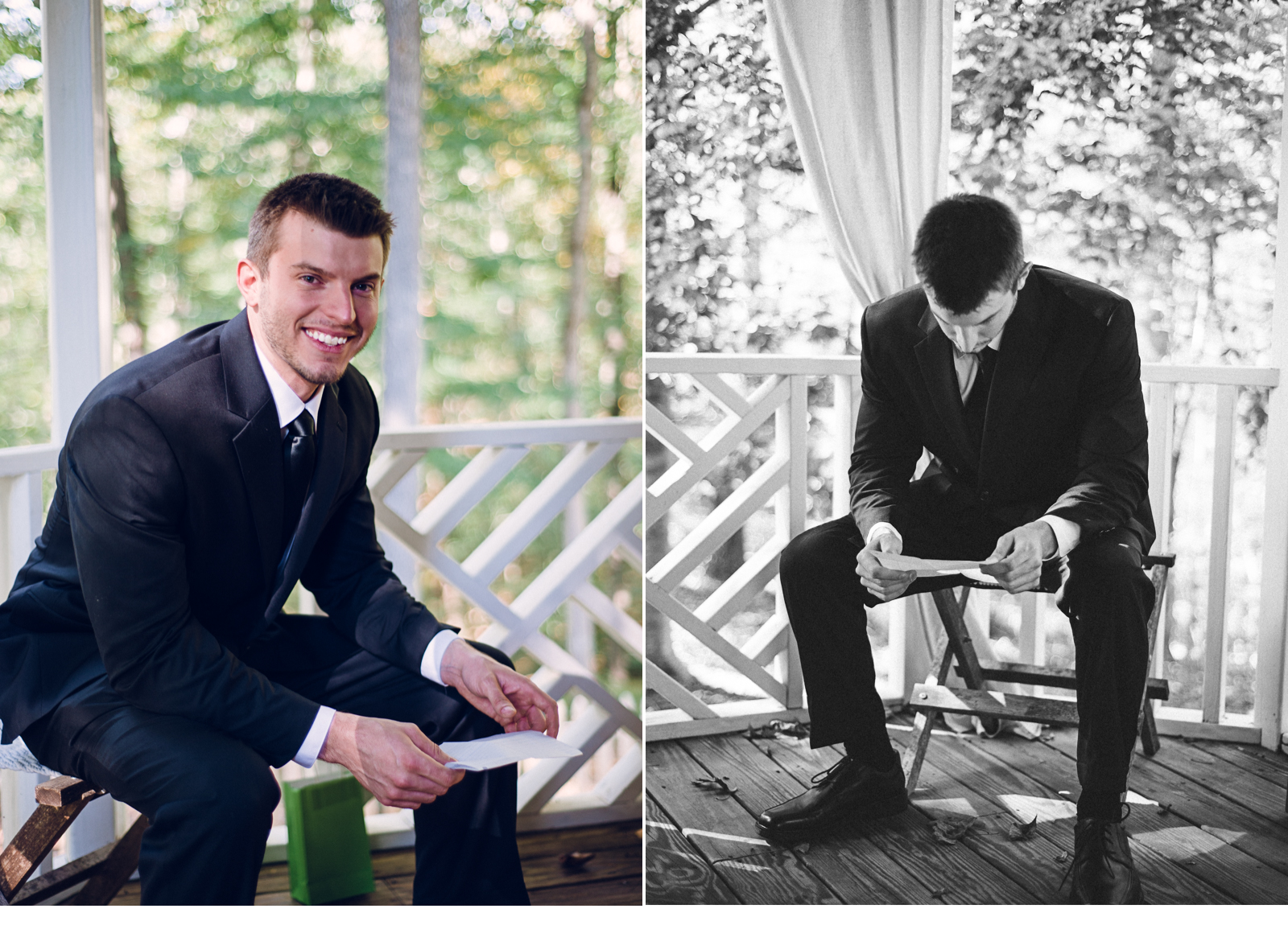 Groom Reading Letter