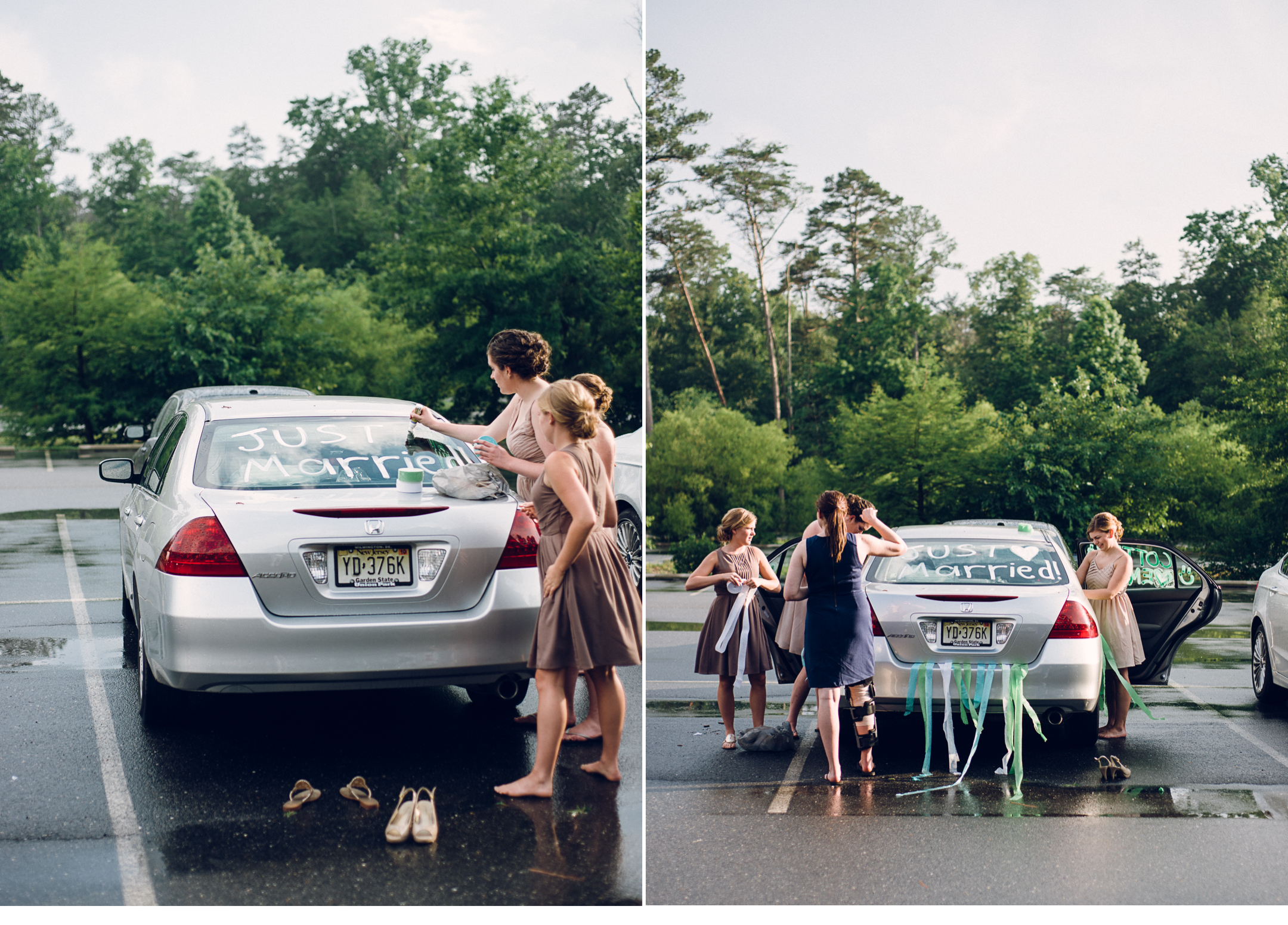 Decorating Wedding Car