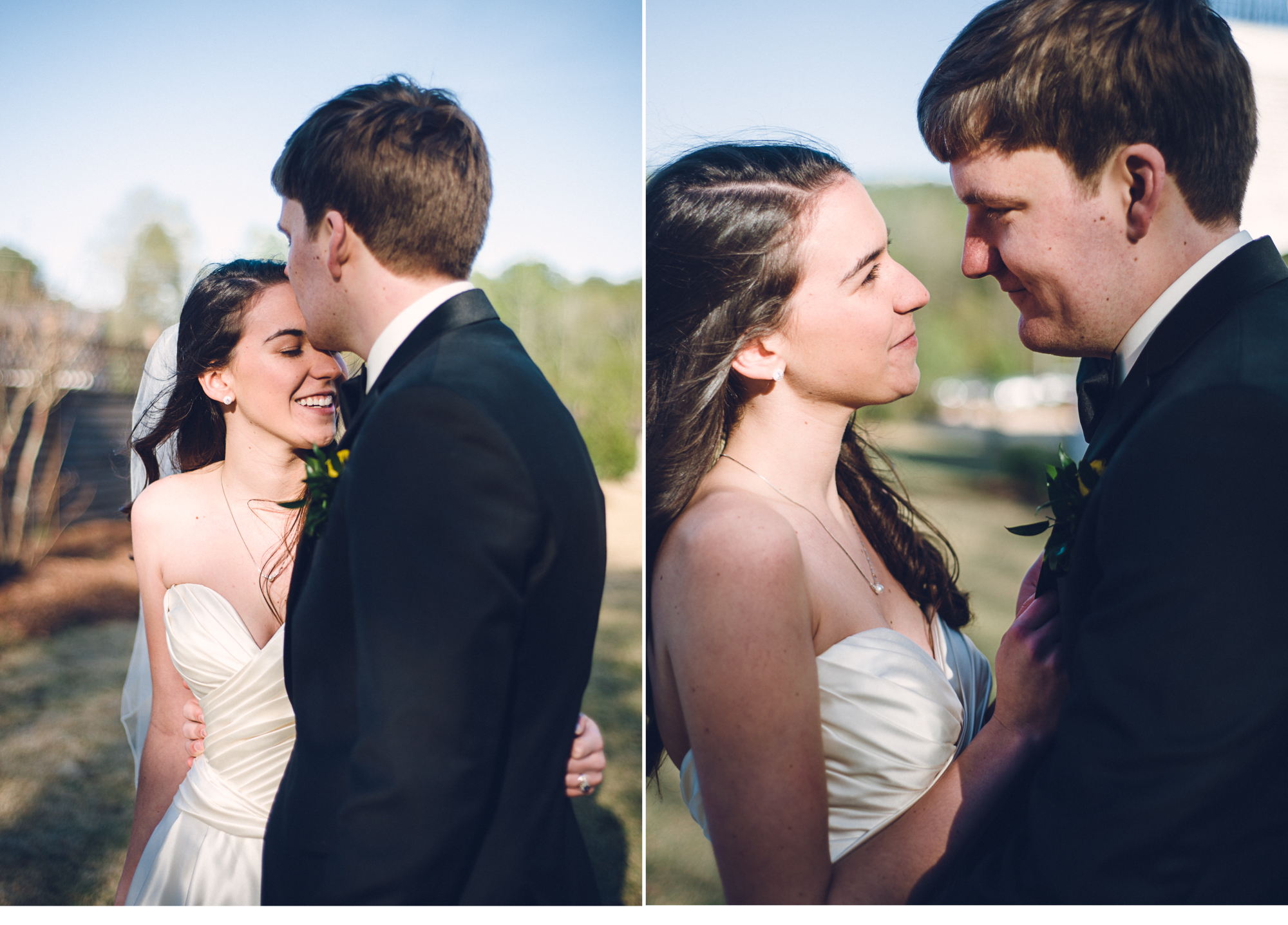 Bride and Groom Intimate
