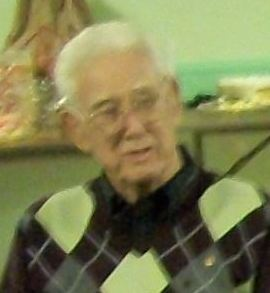 Jim Baker at the Hacklebarney Christmas Meeting in 2010.