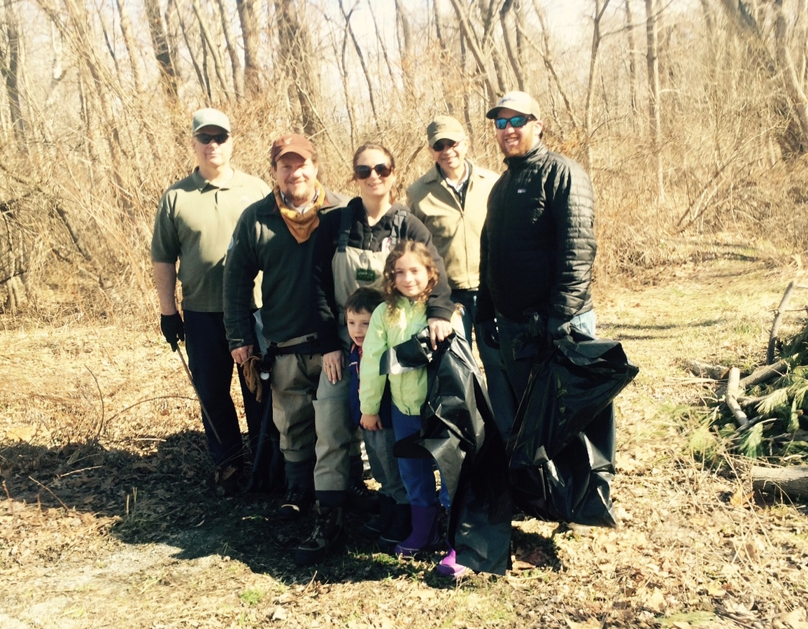 The Musky clean-up on 4/11/15, featuring the Russo clan!