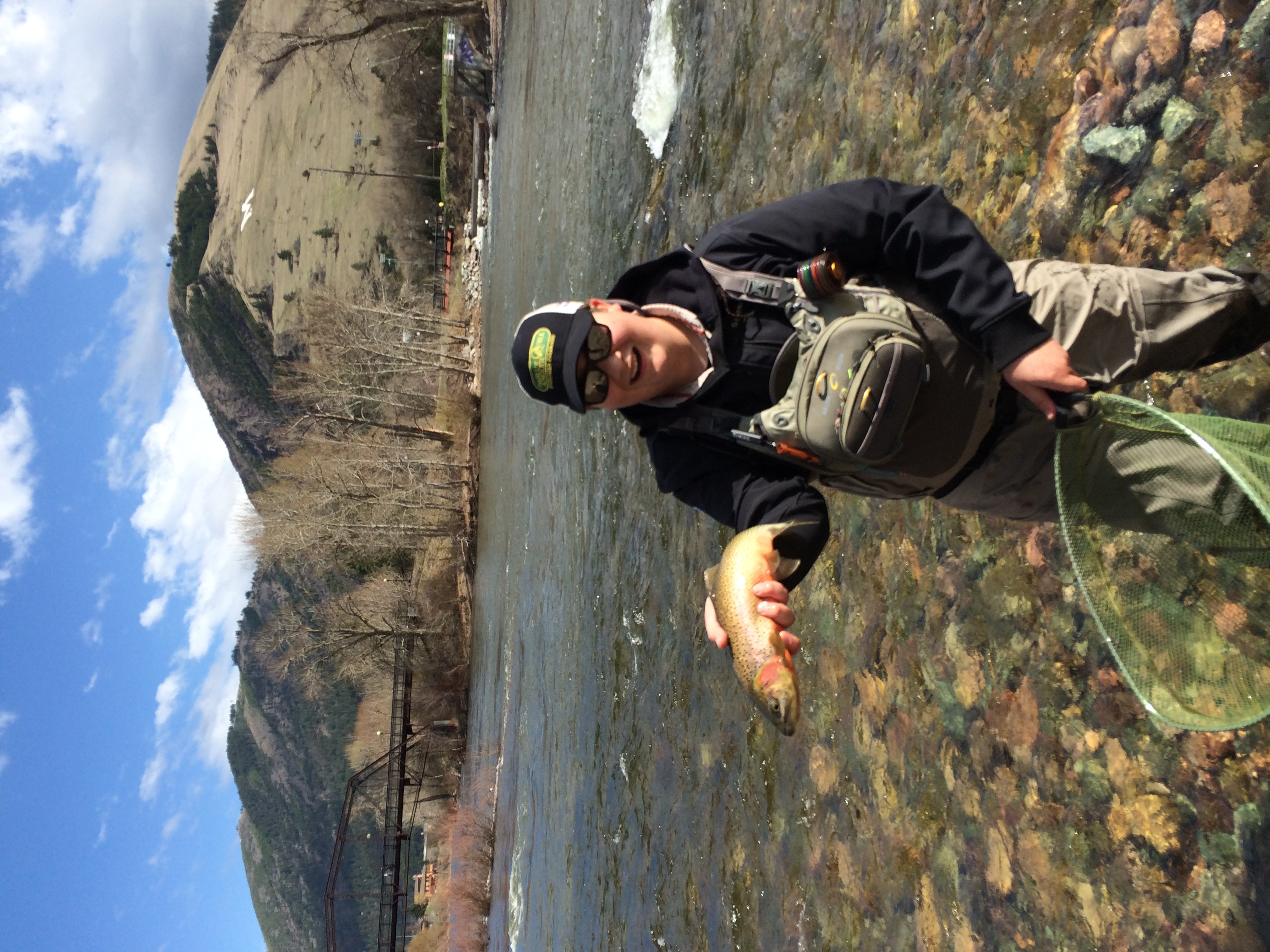 Alex on his Hacklebarney sponsored trip to the youth conference in Wyoming.