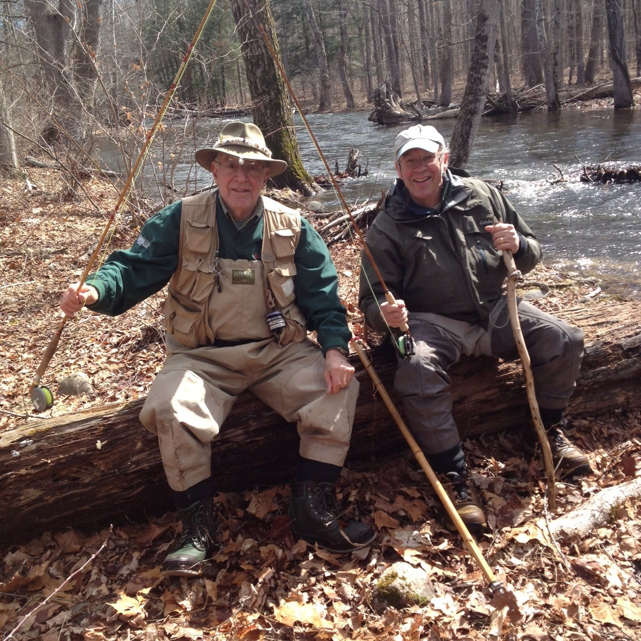John out fishing with Rich Tullo on what must have been a glorious day.