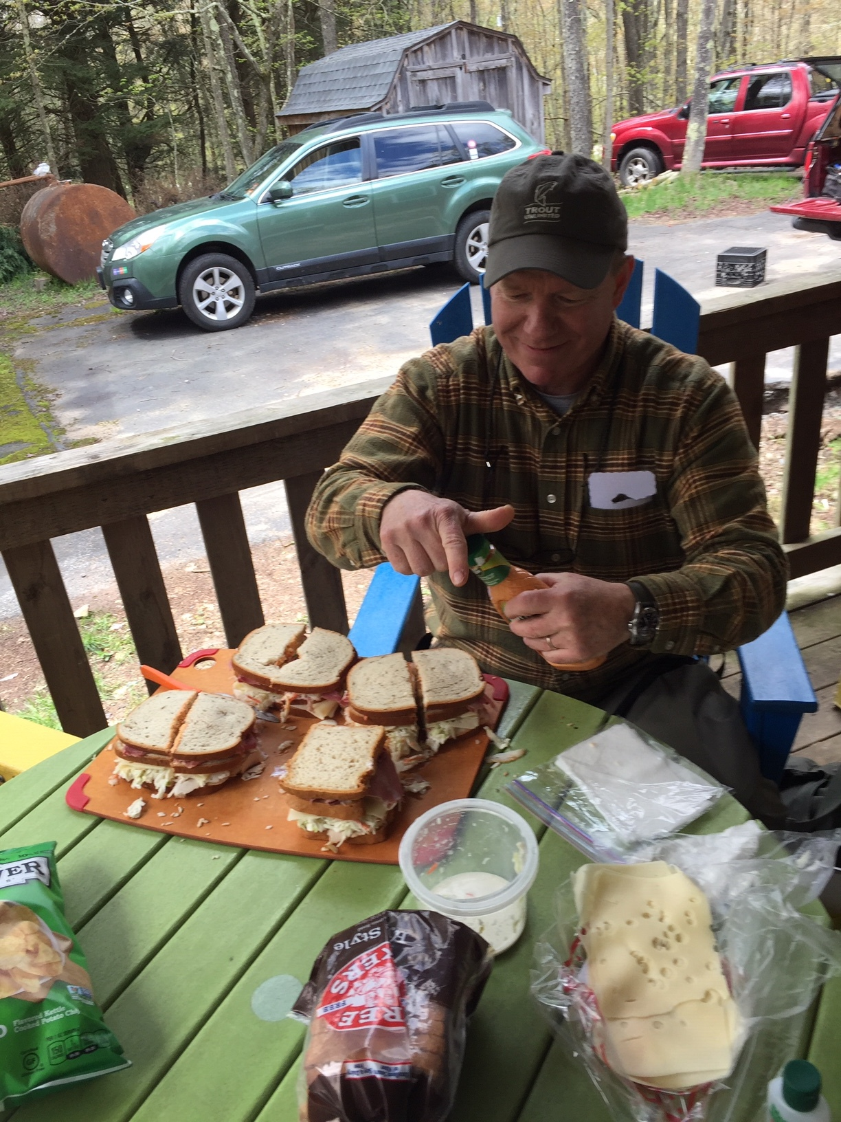 Bruce Pollock prepares sloppy joes at the Willowemoc, May 15, 2019