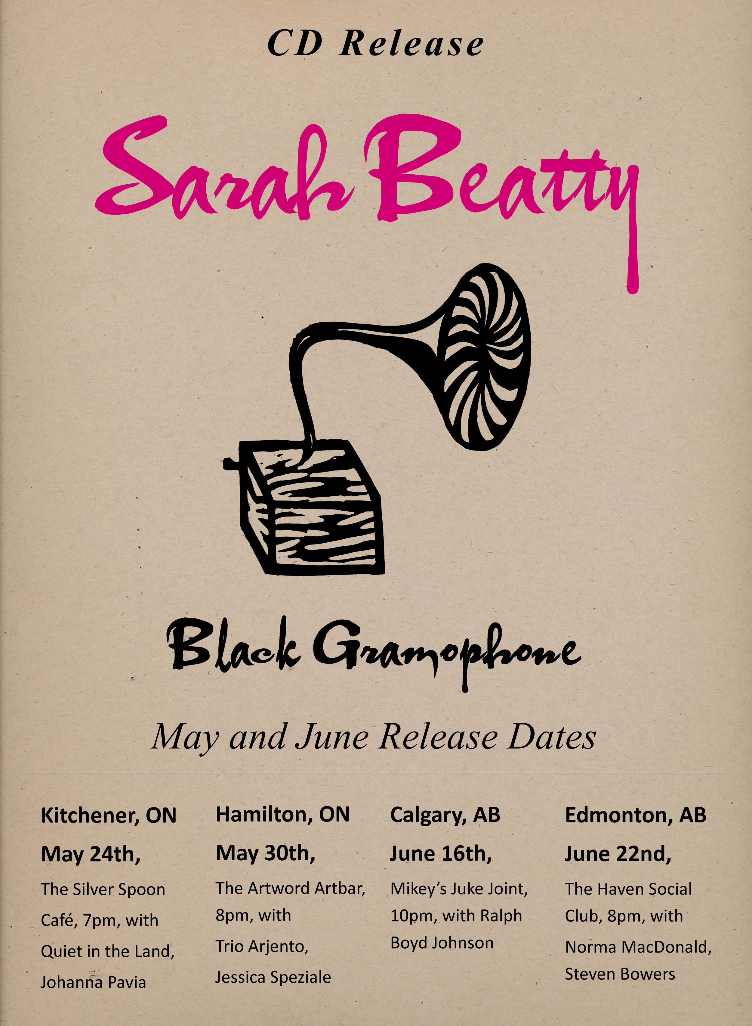 Poster for the Release of Black Gramophone