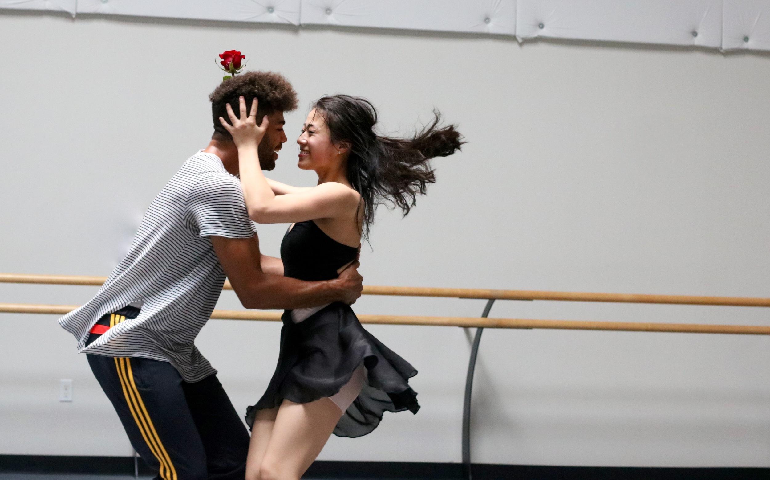 Dancers David Strong & Chessa Chalmers in Amber Willett's  Romeo&Juliet, Photo by Sampson Alvarado