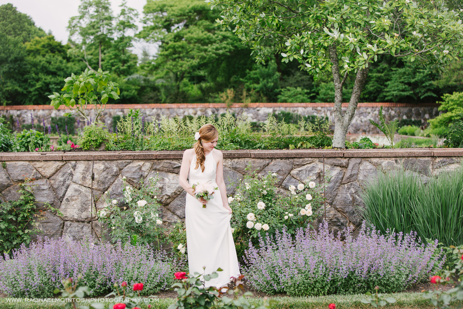 Biltmore Wedding Asheville NC - First Look in Rose Garden-14.jpg