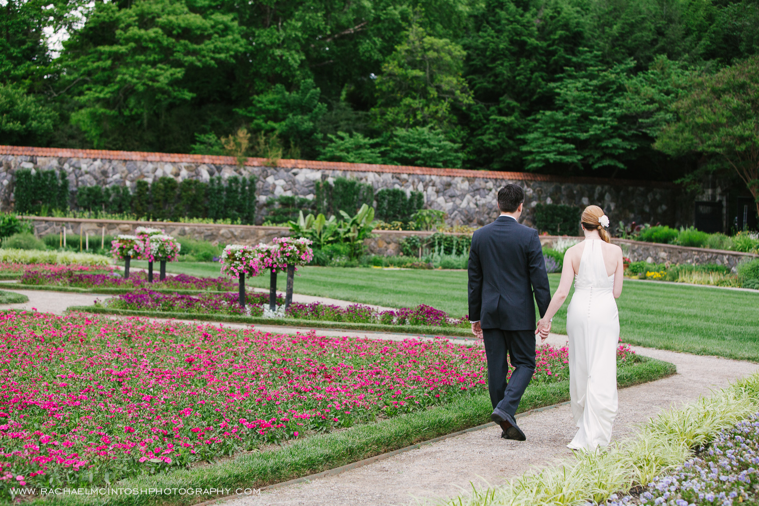 Biltmore Wedding Asheville NC - First Look in Rose Garden-24.jpg