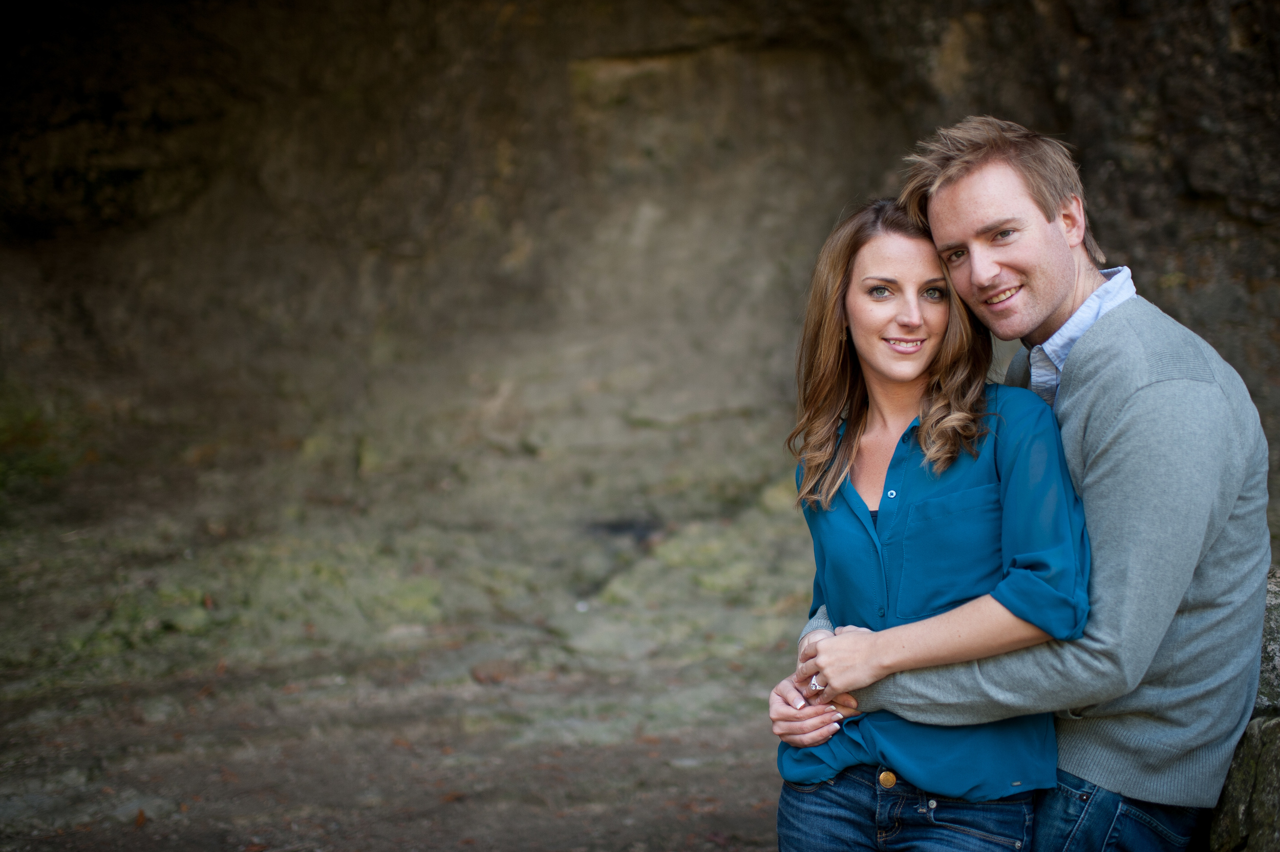 An engagement photograph taken on the waters edge at the Elora Quarry Conservation are of Jenessa and Scott by Toronto wedding photographer Scott Williams.  Janessa and Scott had their wedding ceremony and reception at Nith Ridge Estates in Ayr, Ontario.