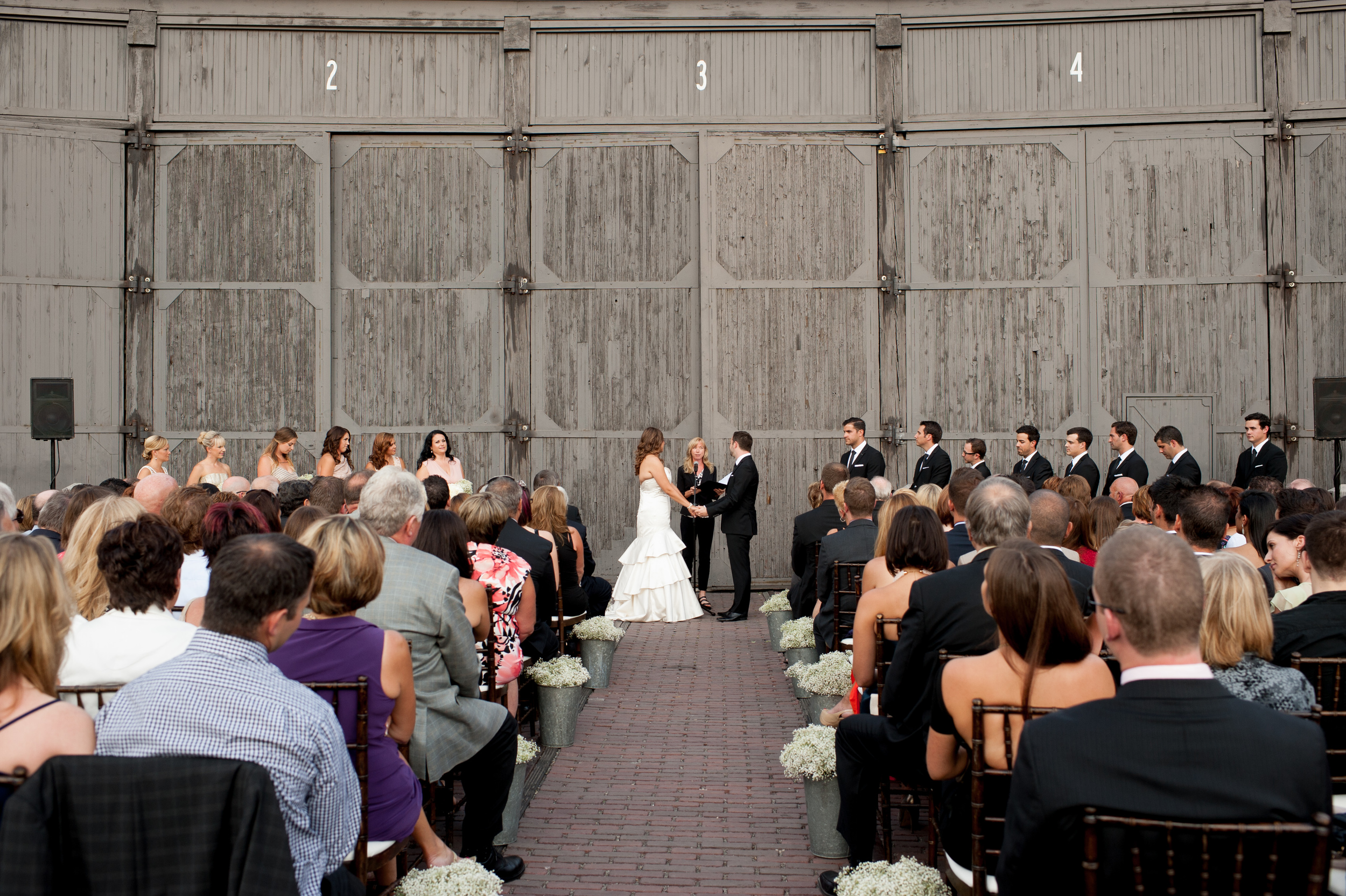 steamwhistle brewery Wedding outdoor ceremony