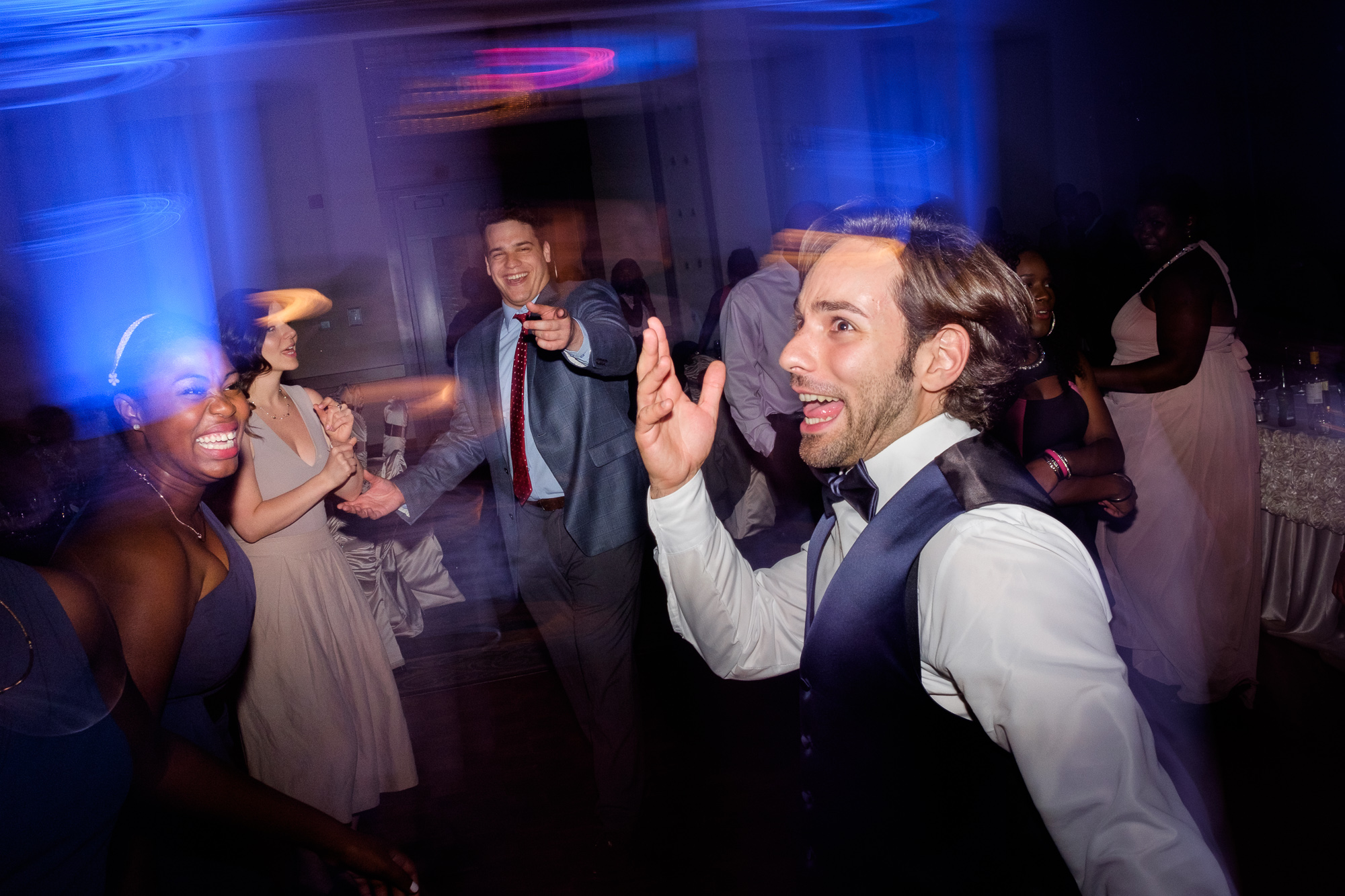Guests party away during the reception at Jennifer + Alex Toronto wedding.