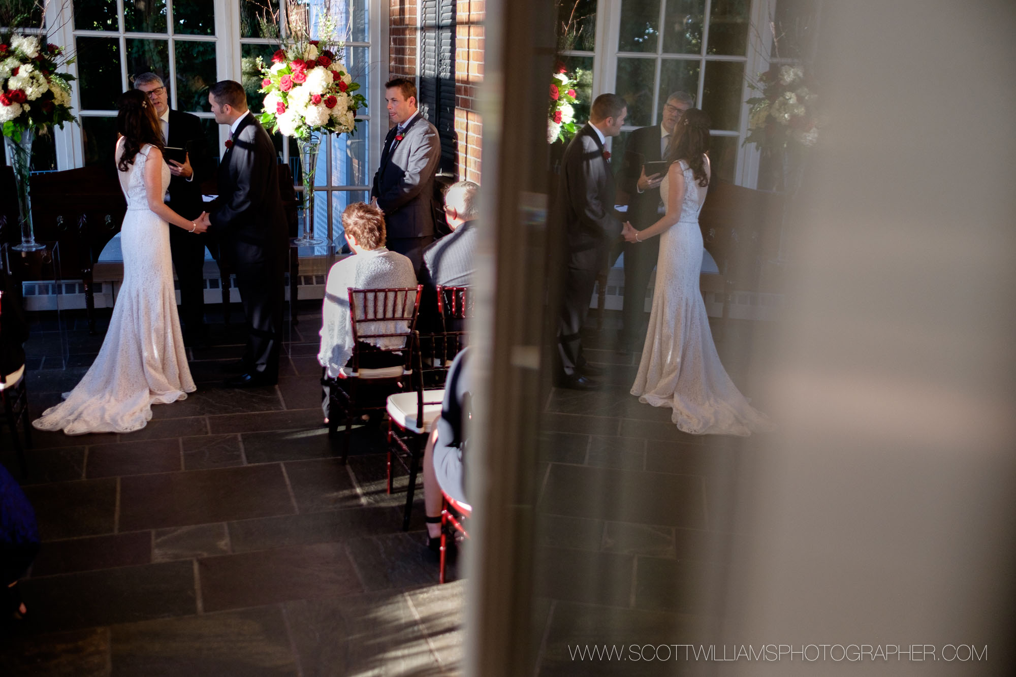 A wedding photograph from an intimate fall wedding ceremony at Langdon Hall in Cambridge, Ontario.