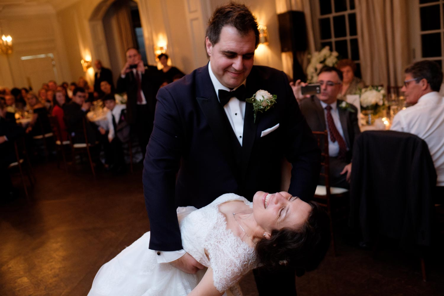 a wedding photograph of the first dance at Graydon Hall in Toronto.