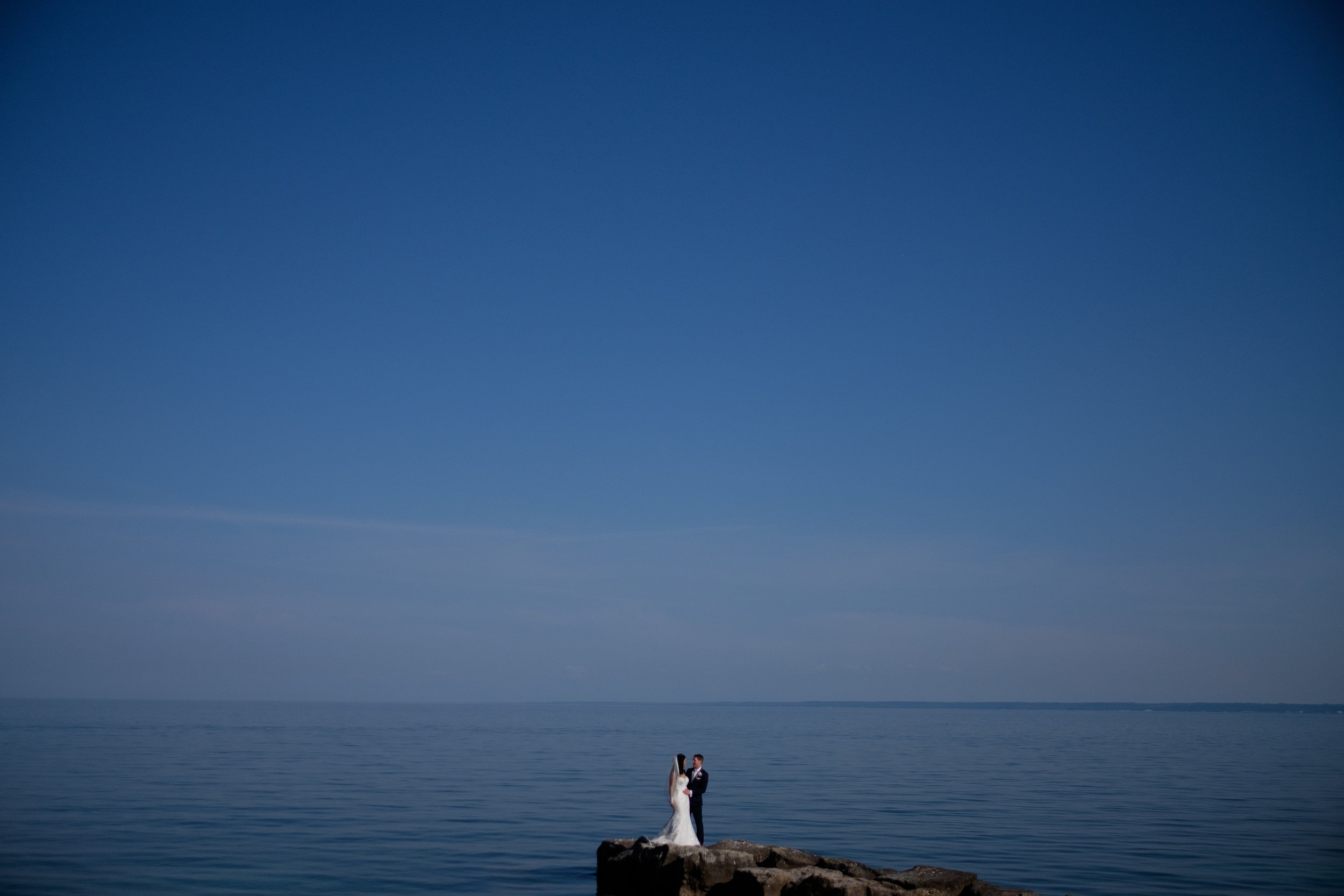 Not the Mediterranean... this is actually Lake Ontario.  We grabbed this beautiful portrait during Laura + Chris' amazing wedding at Paletta Mansion in Mississauga.