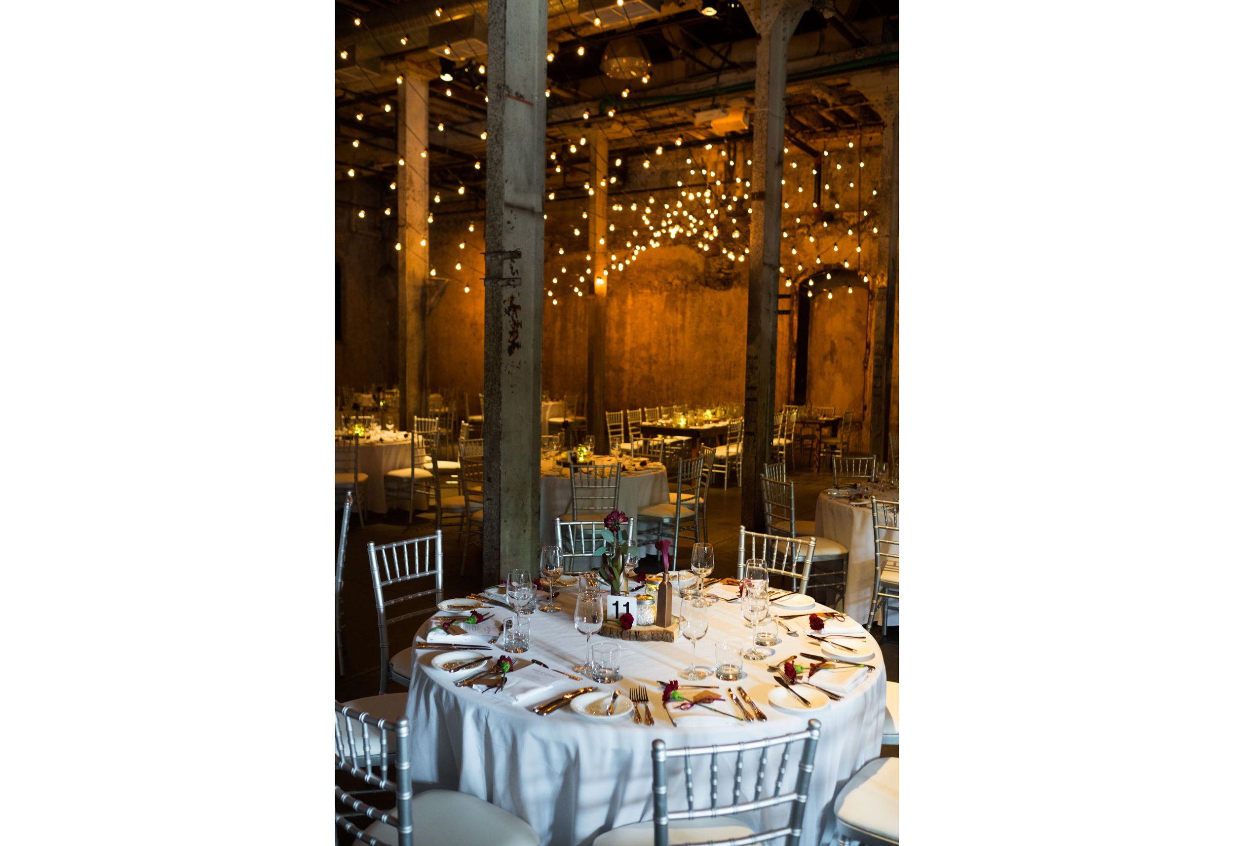 A photograph of the wedding details at Sarah + Konrads wedding at the Fermenting Cellar in Toronto.