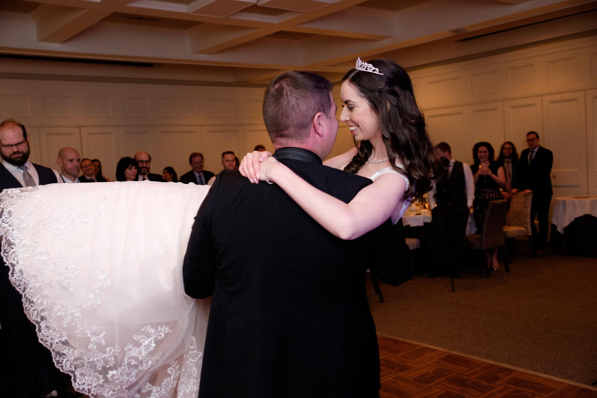 Rob and Amanda have their first dance at their wedding at Langdon Hall.