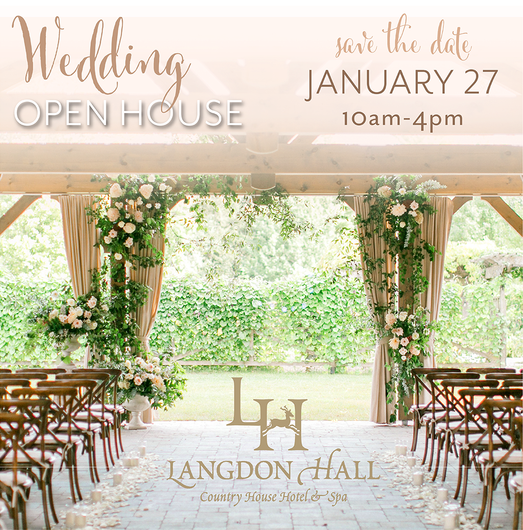 A wedding venue open house at Langdon Hall in Cambridge, Ontario.