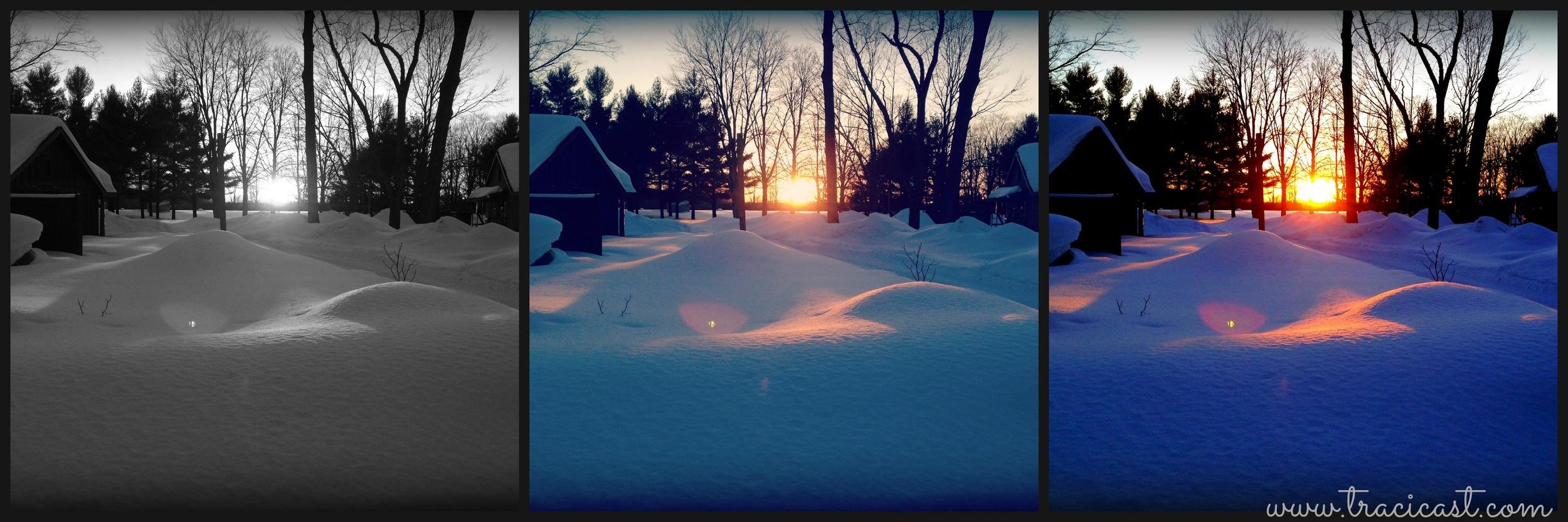 sunrise snow trio