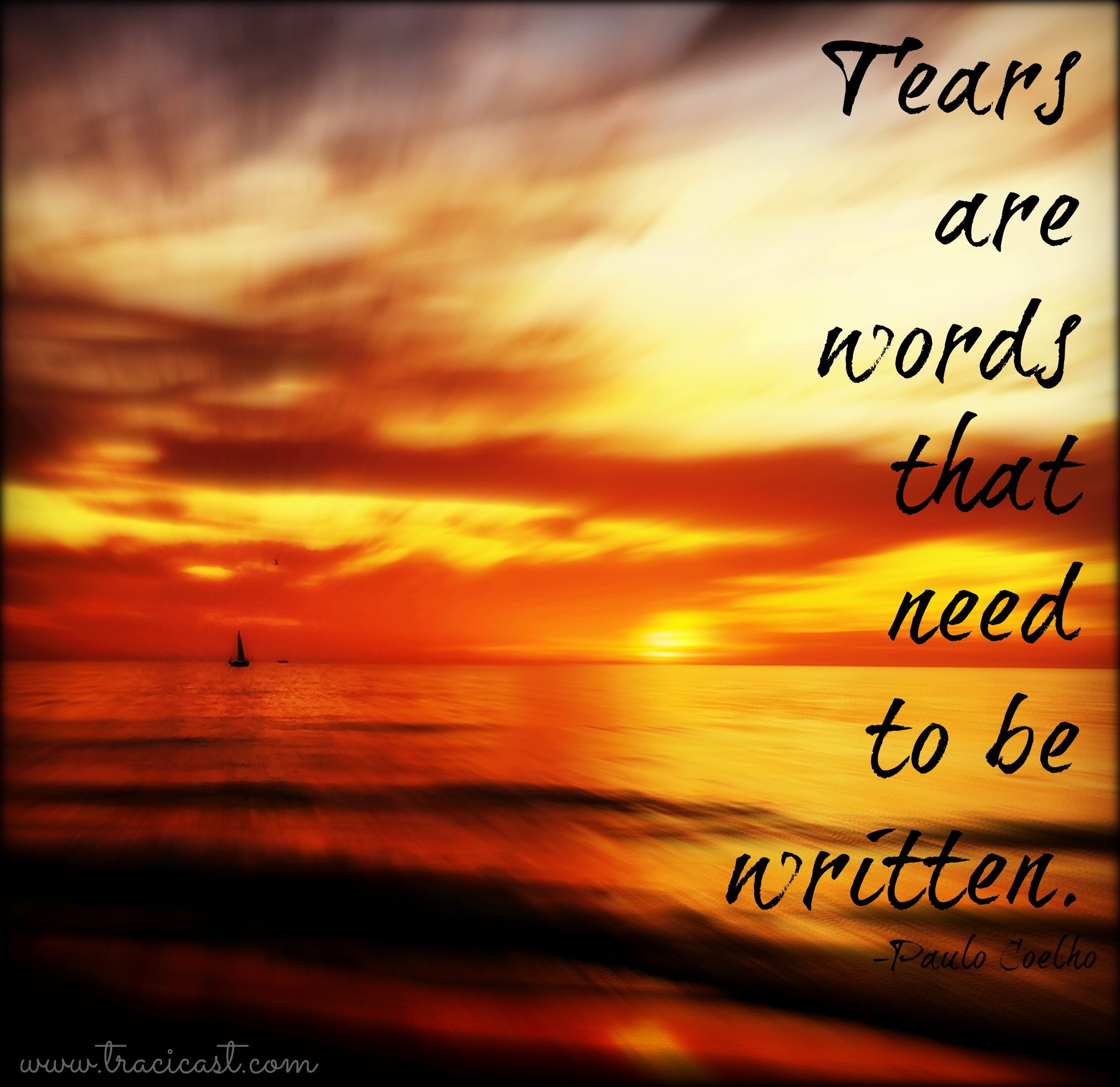Tears are words
