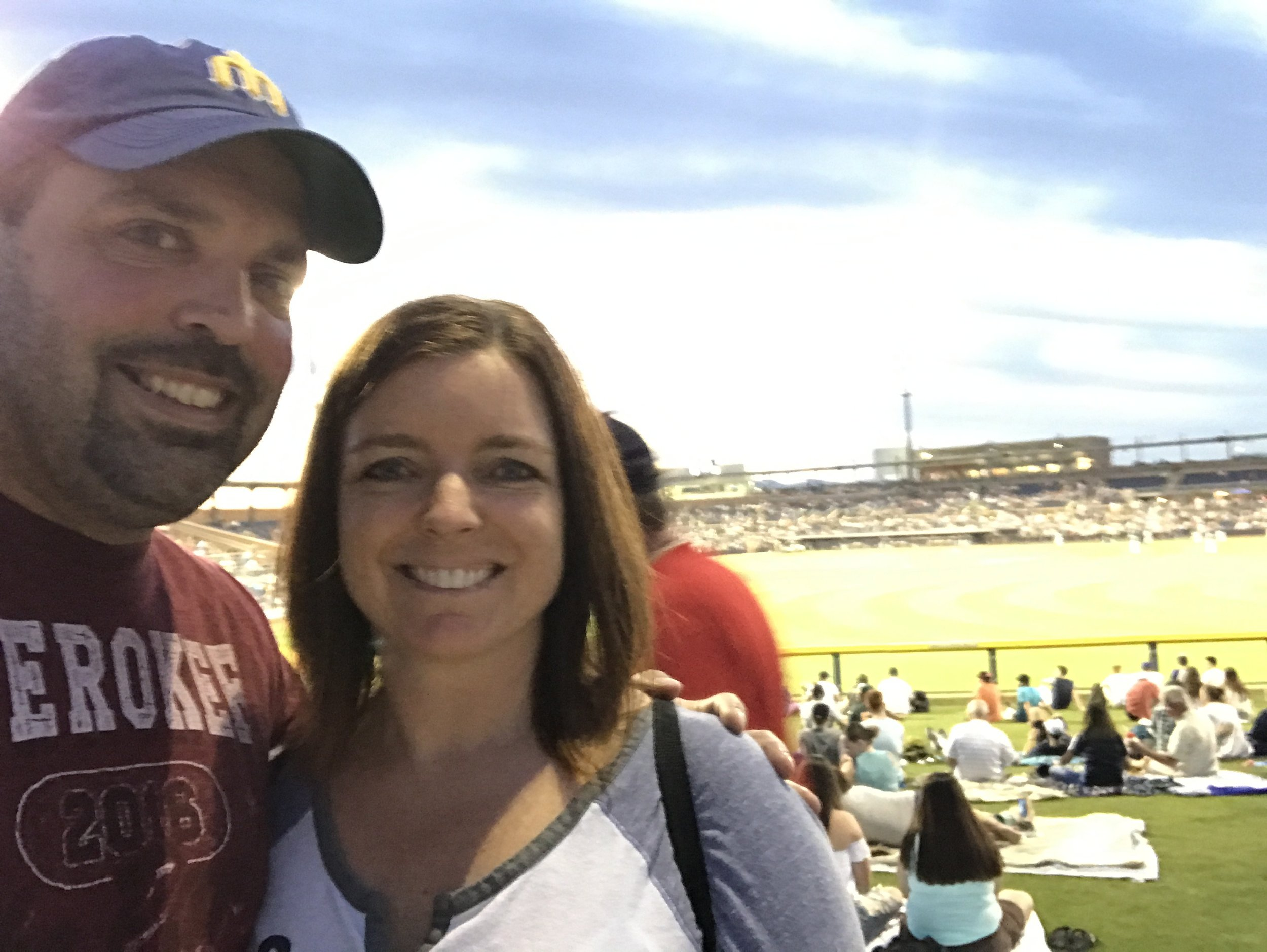 Traci and I had a blast taking in warm, late-night baseball games in Arizona in March.