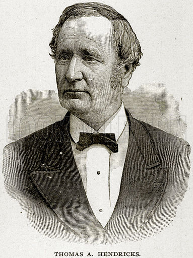 Thomas Hendricks, the 21st Vice President of the United States (Photo from www.lookandlearn.com)