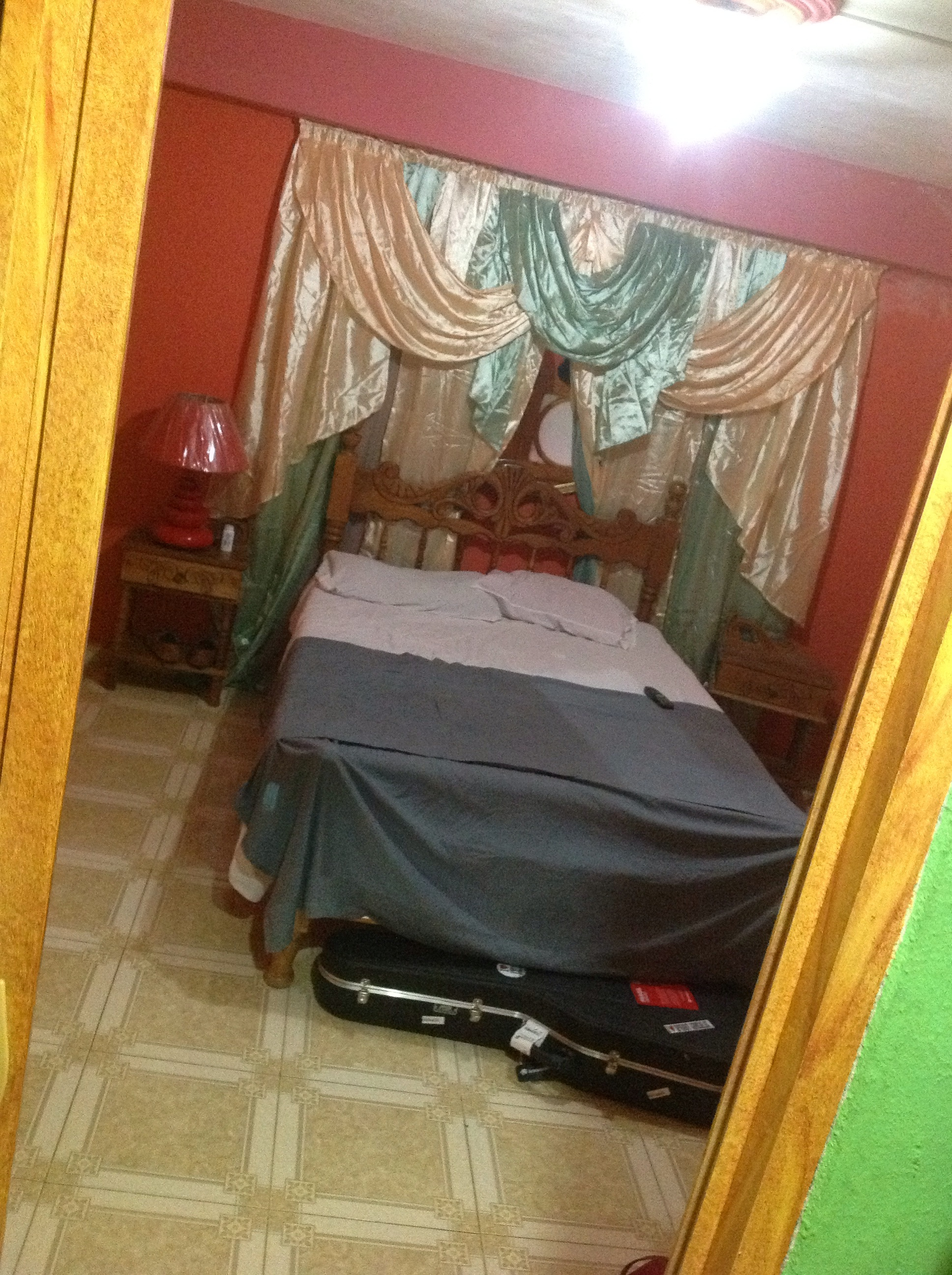 My bedroom where I found it hard to sleep that night