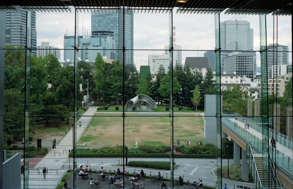 Roppongi (Tokyo Midtown), Tokyo - This place was very quiet in the morning but became very lively around lunch time as droves of office workers came down from their offices to have a bite to eat.