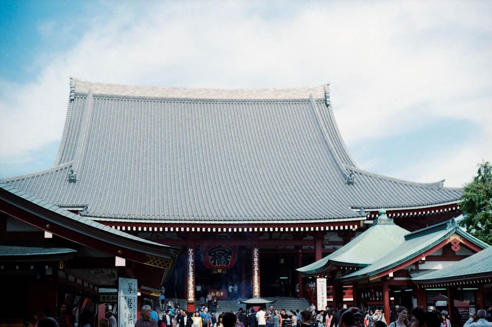 Senso-ji (Asakusa), Tokyo - the main temple area.