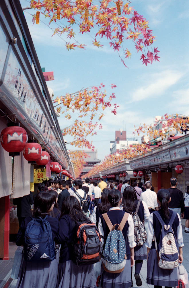 Senso-ji (Asakusa), Tokyo - We did not realize it at the time but around this time (mid-October) was when Japanese students went on field trips to famous places.