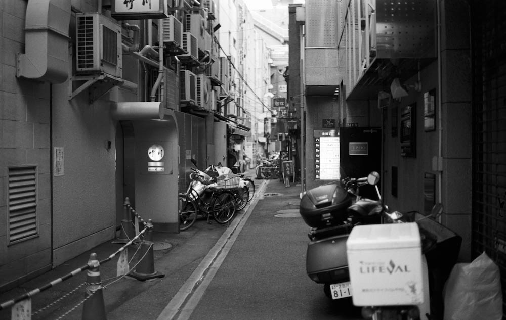 Ginza, Tokyo - a quiet alley way just off the main street,