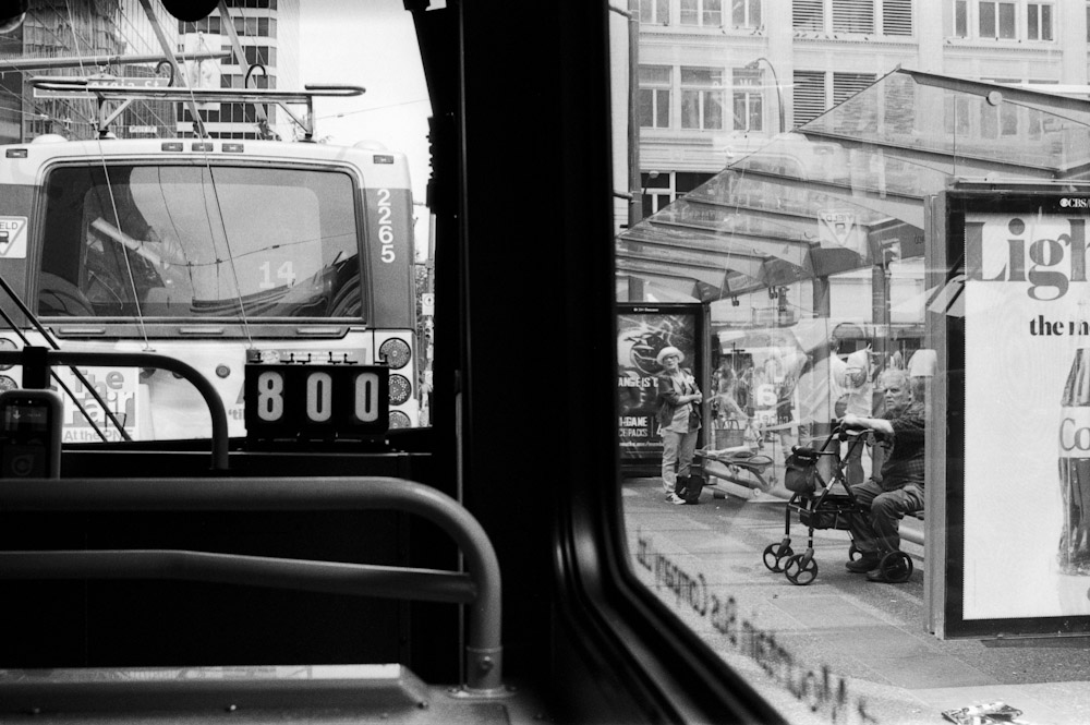 Taken while riding the bus down Granville St in Vancouver.