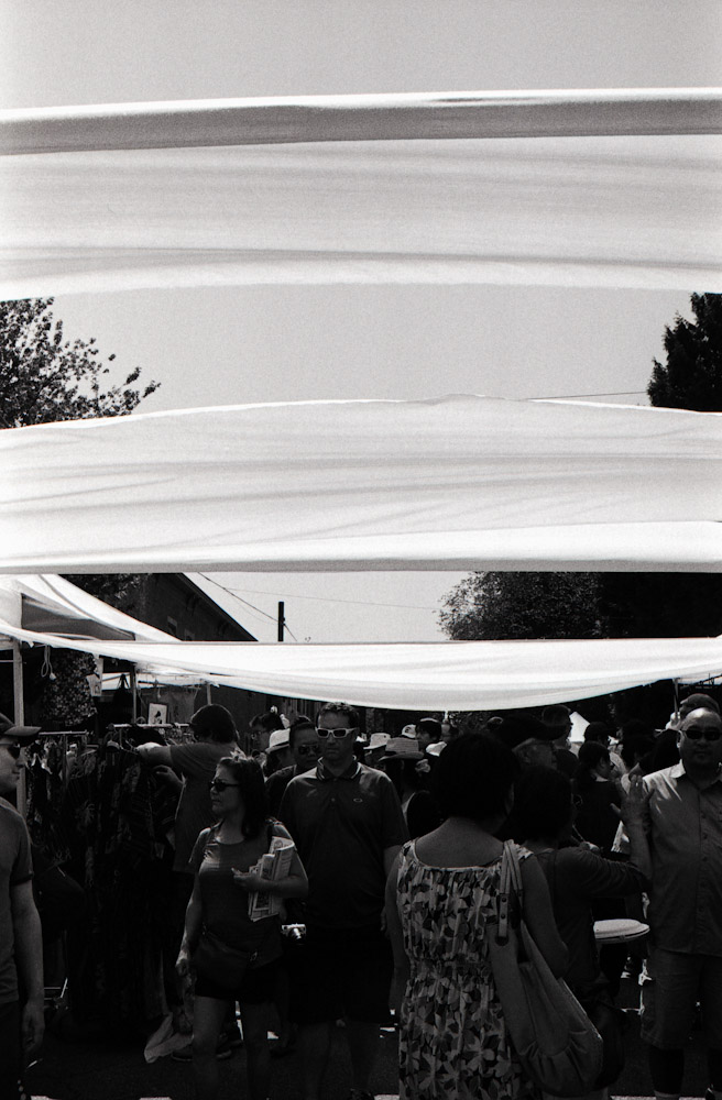 I really liked the rolling curtains in this image. Taken during the Powell Festival.