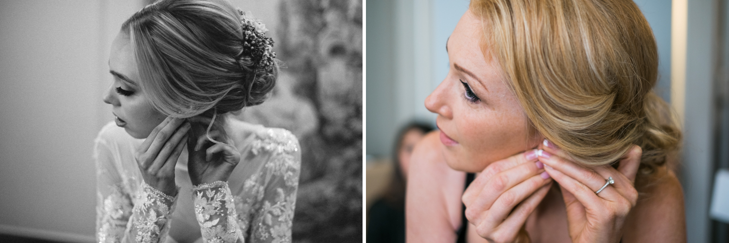 I was surprised to find that I had actually taken two similar photographs 8 months apart without even realizing it! The first image is the Wedgewood Hotel wedding-styled shoot I did with Ivory and Gold Photography and the second image is Nick and Dayna's wedding. This was completely coincidence!