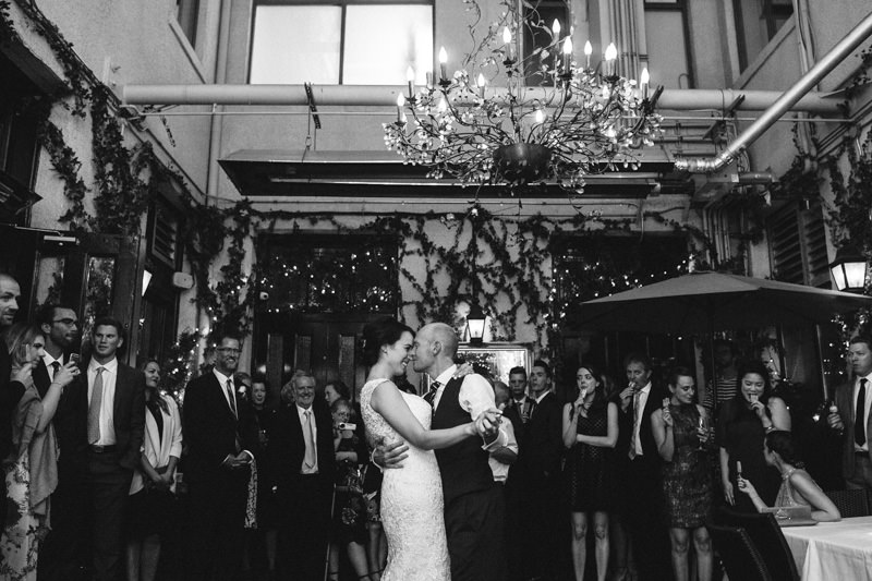 That First Dance moment in the Brix and Mortar courtyard :)