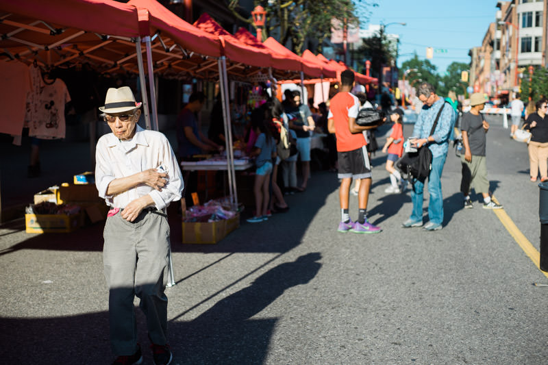The Chinatown Summer Market was on in full force last year. This year (2018) it was shut down.