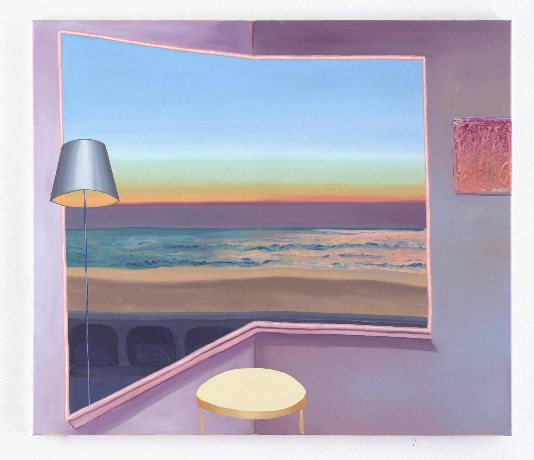 Purple room orange table