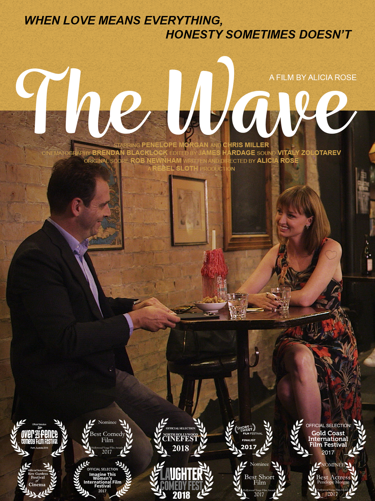 Film Poster for my latest acting gig. The Wave.