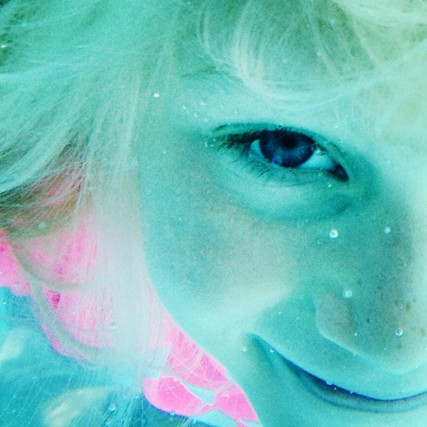 My daughter in the kiddy pool.