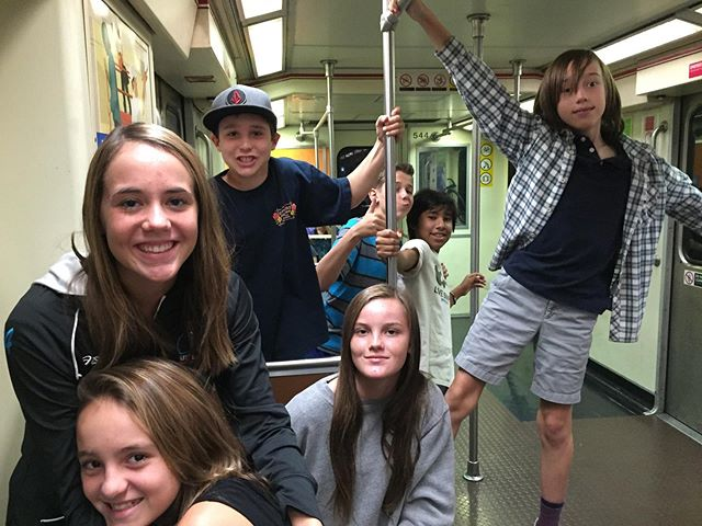 It's been a memorable ride this year! Who remembers their first trip downtown with TMS? A few more stops until graduation-hang on tight.⠀ .⠀ .⠀ .⠀ #tms #topangacanyon #outdooreducation #breakthemold #alted #alternativeeducation #laschool #middleschool #education #edu #woodlandhills