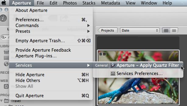 Aperture - Apply Quartz Filter Service