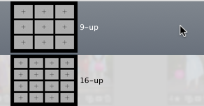 9-up and 16-up Layouts in Aperture's Modern Lines book theme