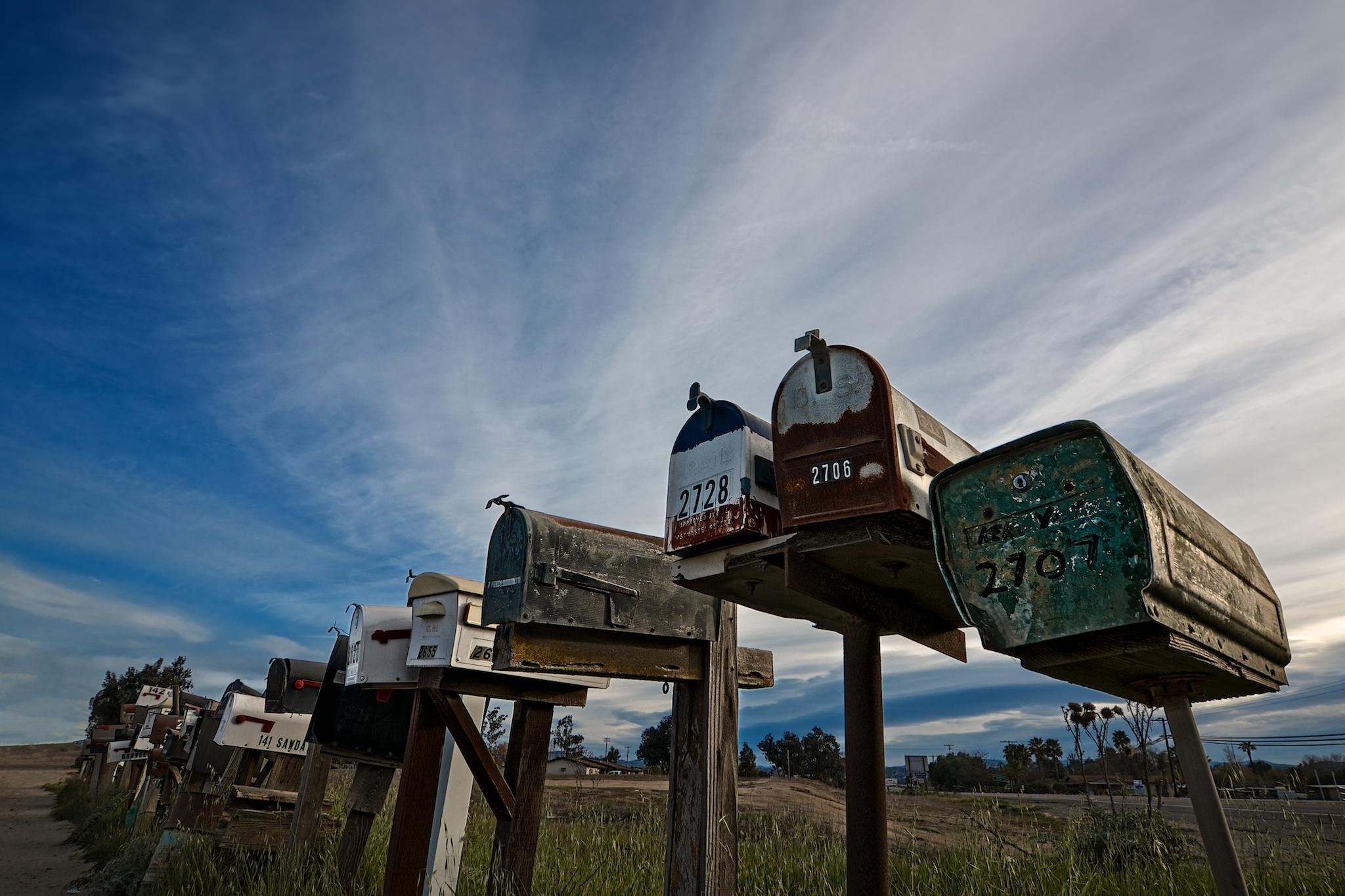 Mailboxes, Ramona, California
