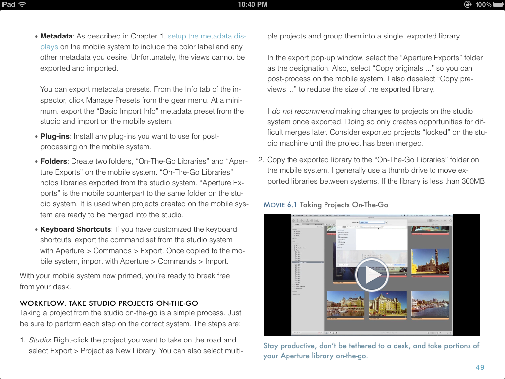 An excerpt from my book, Effective Aperture Workflow, available on iTunes .