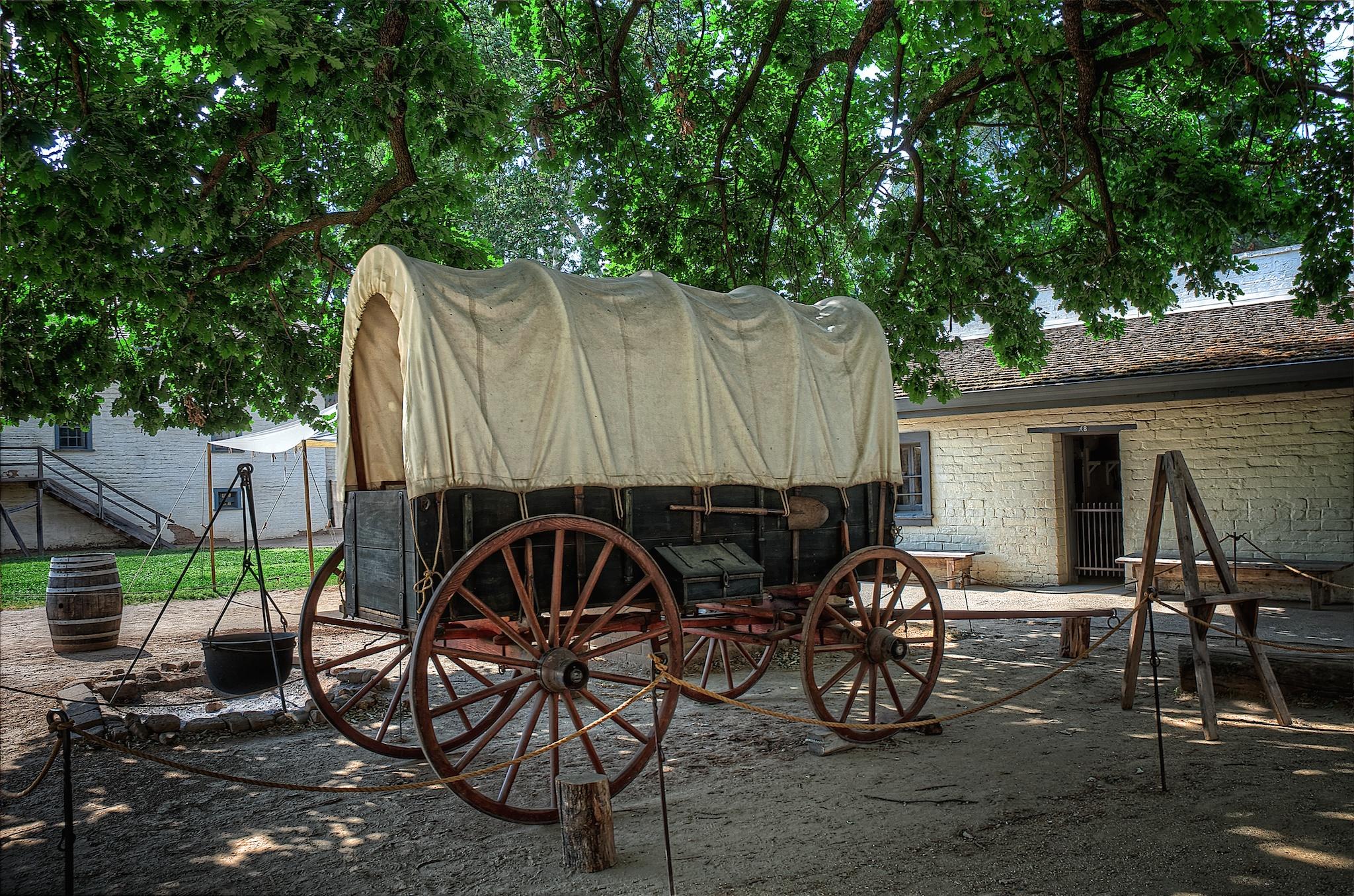 Stagecoach, Sutter's Fort, Sacramento, California