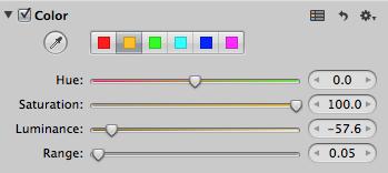 Aperture's Color Adjustment Brick